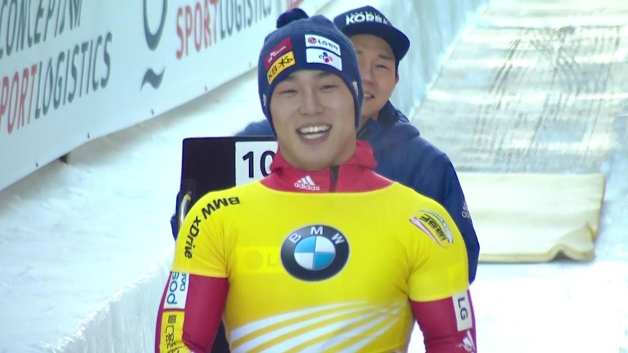 윤성빈, 월드컵 7차 대회 금메달...7번 대회에서 5번째 우승