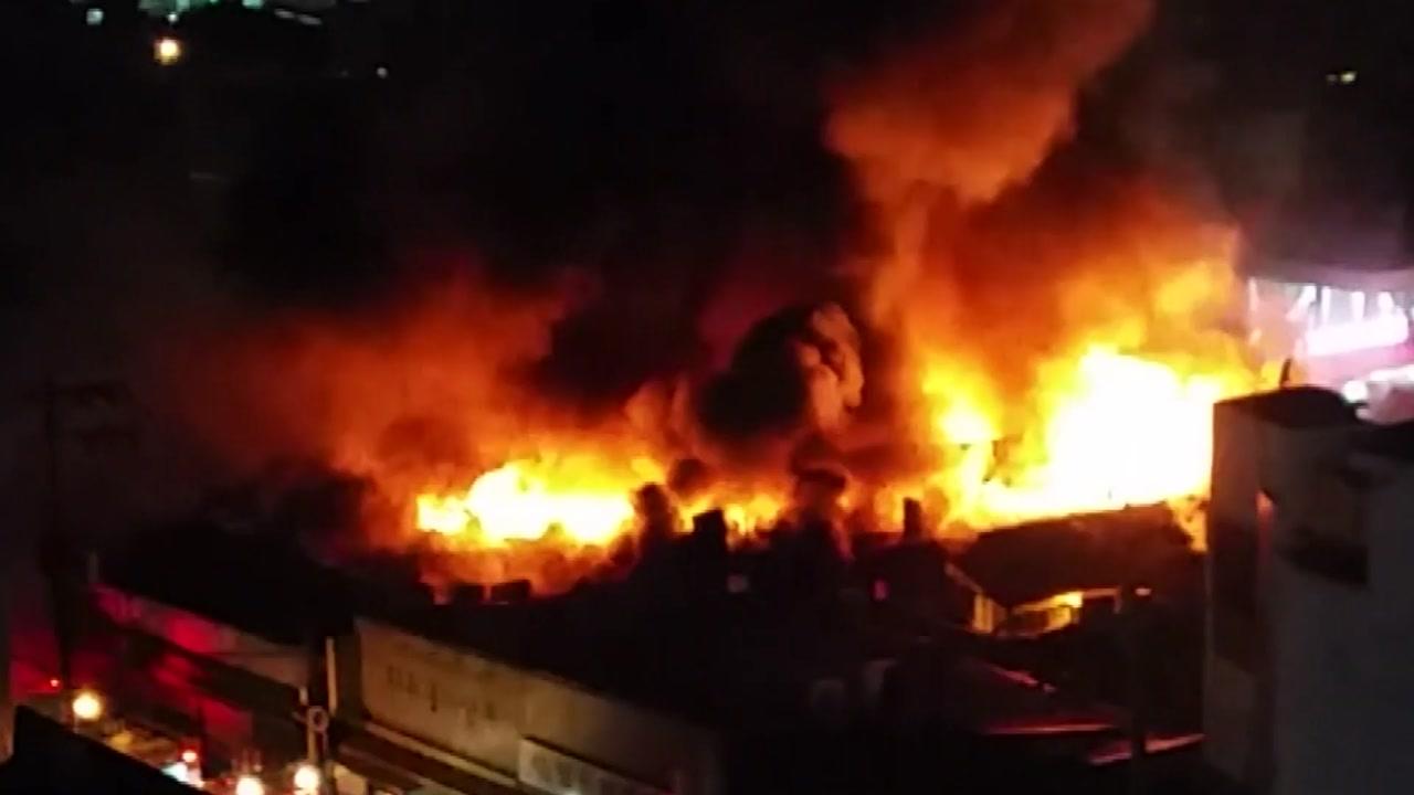 청량리시장 불...강추위 속 화재·사고 잇따라