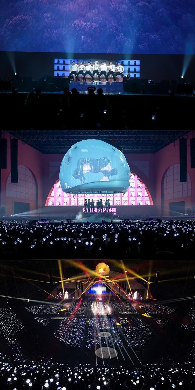 방탄소년단, 글로벌 팬 미팅 성료…4만 팬 열광