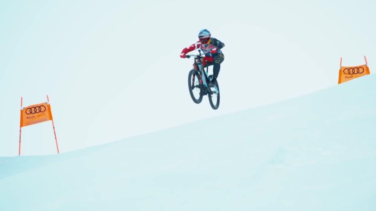 [지구촌생생영상] 시속 100km...산악자전거 타고 아찔한 스키장 활강