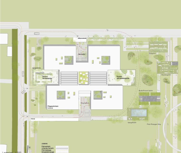 〔안정원의 건축 칼럼〕 마을광장을 중심으로 편안한 분위기로 디자인한 양로원 공간 2