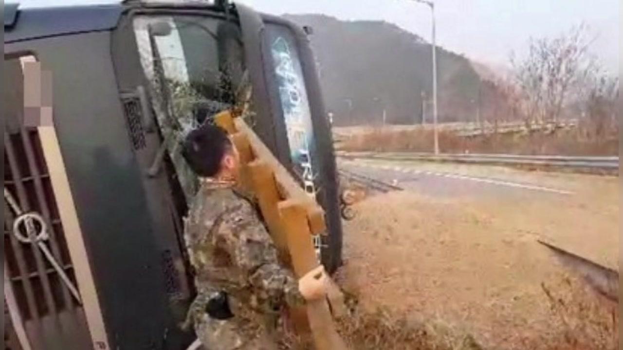 [좋은뉴스] '망설임 없이'...교통사고자 구한 군인들