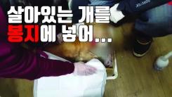 [자막뉴스] 살아있는 개를 쓰레기봉투에 담아 버리다니...