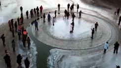 [지구촌생생영상] 스스로 움직이는 신비한 '얼음 회전판'