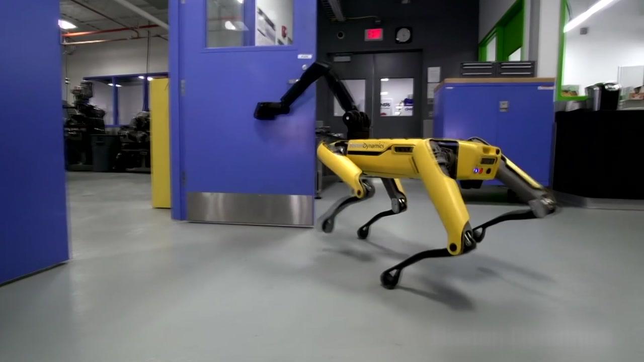 [지구촌생생영상] 문 잡아주고 기다려주고...서로 돕는 로봇