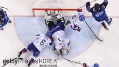 남자 아이스하키팀 핀란드에 2대 5 패배...최하위 마감