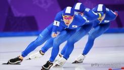 [속보] 스피드스케이팅 남자 팀 추월 '은메달' 획득
