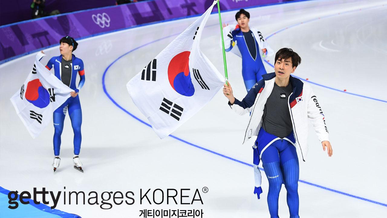 스피드스케이팅 남자 팀추월 은메달 획득