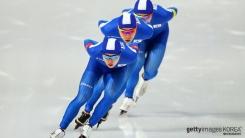 남자 빙속 삼총사, 팀추월 은메달