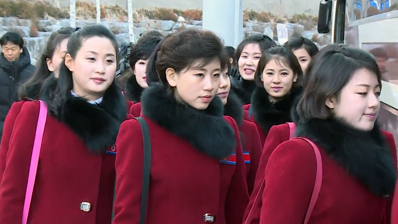 북한 응원단, 인제 숙소 떠나 귀환길