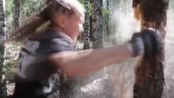 [지구촌 생생영상] '나무쯤이야'...10살 소녀의 놀라운 펀치력