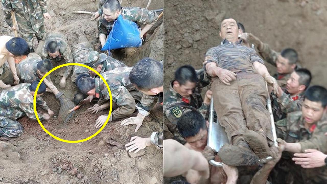 中 공안, 산 채로 묻힌 사람들 맨손으로 흙 파내 구조