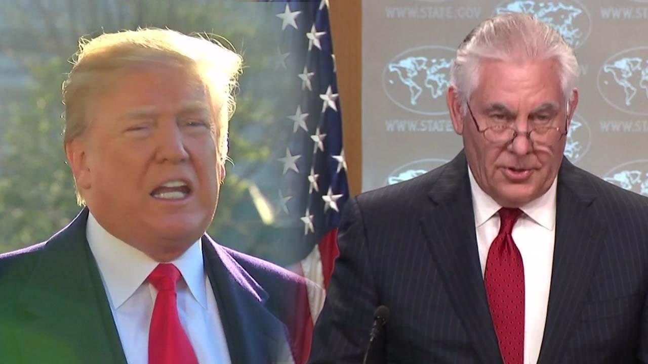 """트럼프, 틸러슨 국무 전격 경질...""""생각 너무 달라"""""""