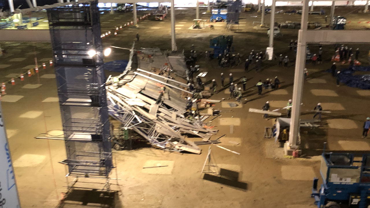 평택 물류센터 공사현장 작업대 붕괴...1명 사망·4명 부상