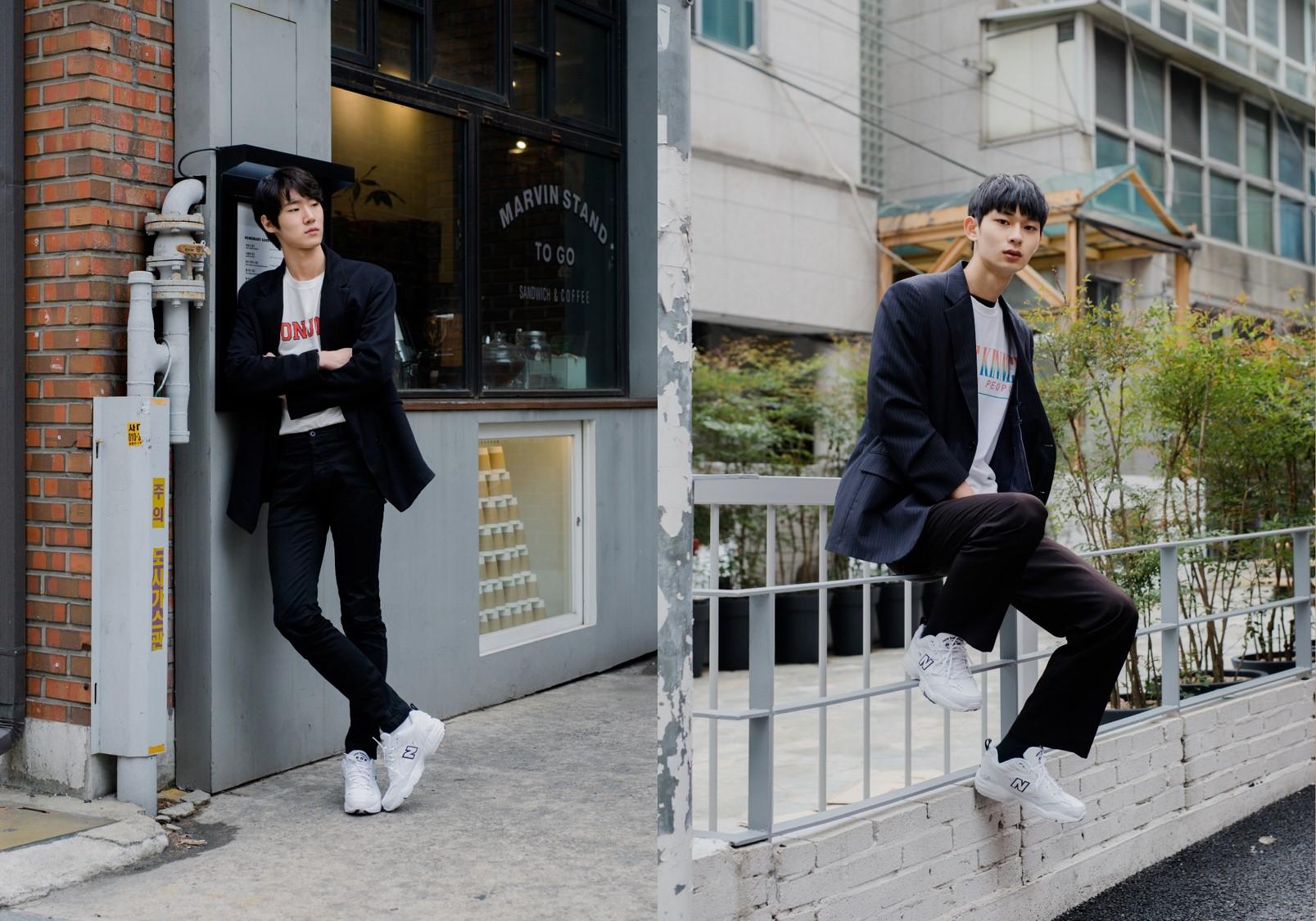 신인 모델 윤준우-석지안, 댄디 남친룩 화제!
