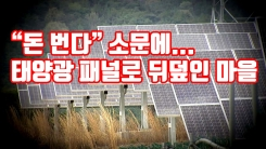 """[자막뉴스] """"돈 번다"""" 소문에...태양광 패널로 뒤덮인 마을"""