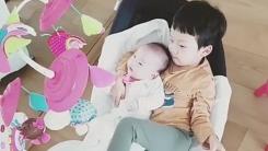 """""""동생바보""""...백종원♥소유진 아들 용희, 다정한 막내 돌보기"""