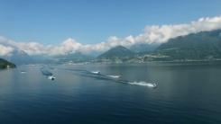 [지구촌생생영상] 이탈리아에서 세 번째로 큰 호수...오토바이로 건너기