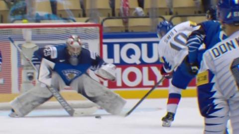 '스위프트 첫골' 한국 아이스하키, 핀란드에 1-8 패배