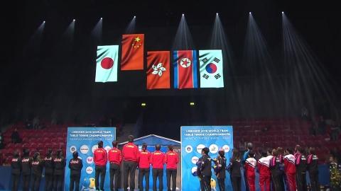 남자도 동메달...단일팀, 행복한 시상식