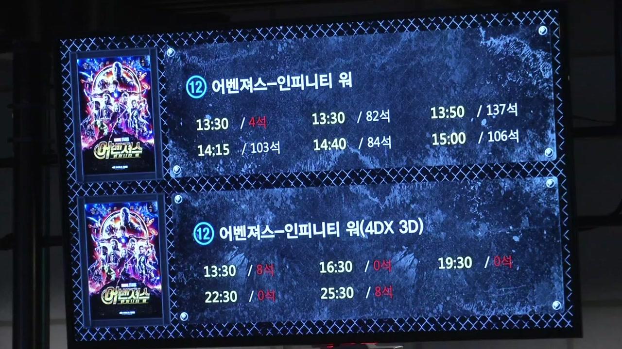 '어벤져스3' 역대 21번째로 천만 관객 돌파