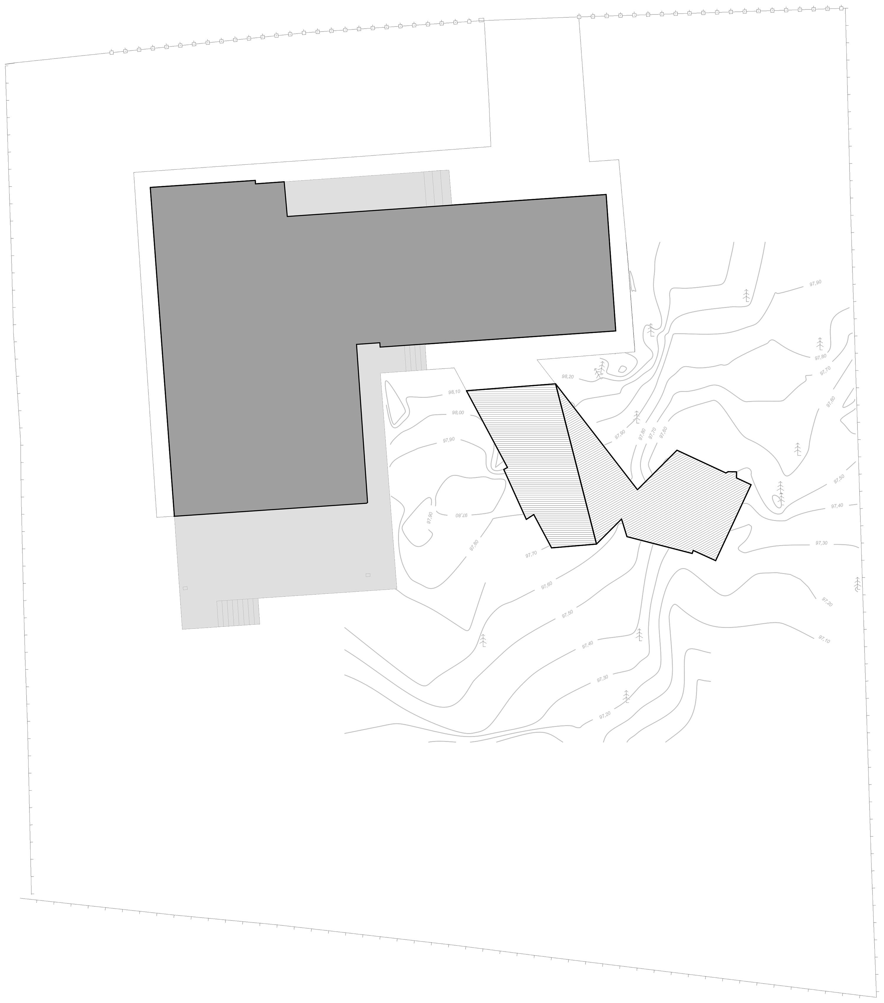 〔안정원의 건축 칼럼〕 숲을 보호하는 기하학적인 배치와 다이내믹한 파빌리온 공간 2