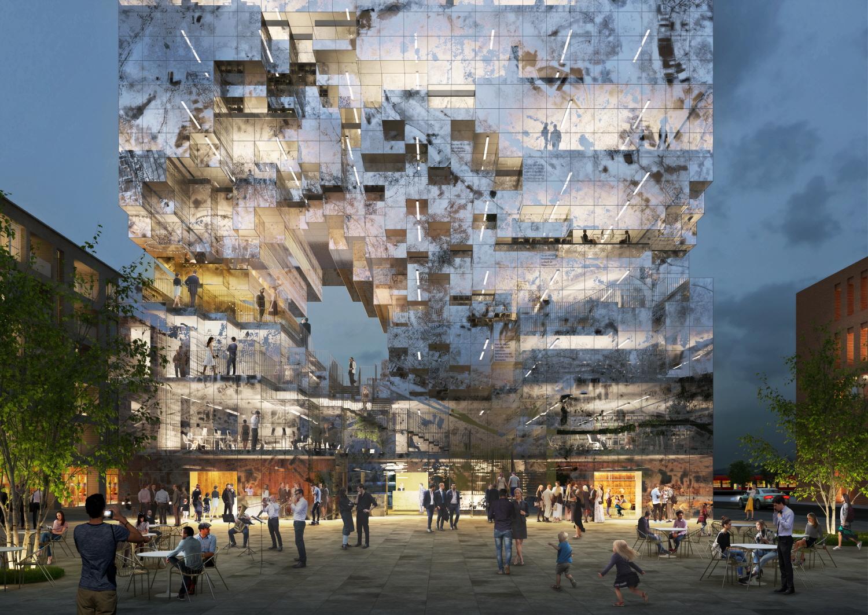 〔안정원의 건축 칼럼〕 지형을 픽셀화하여 도시의 역사와 미래를 제시하는 복합 용도 건축 1