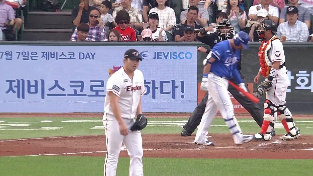 한화 김민우, 데뷔 4년 만에 첫 7이닝 무실점 호투