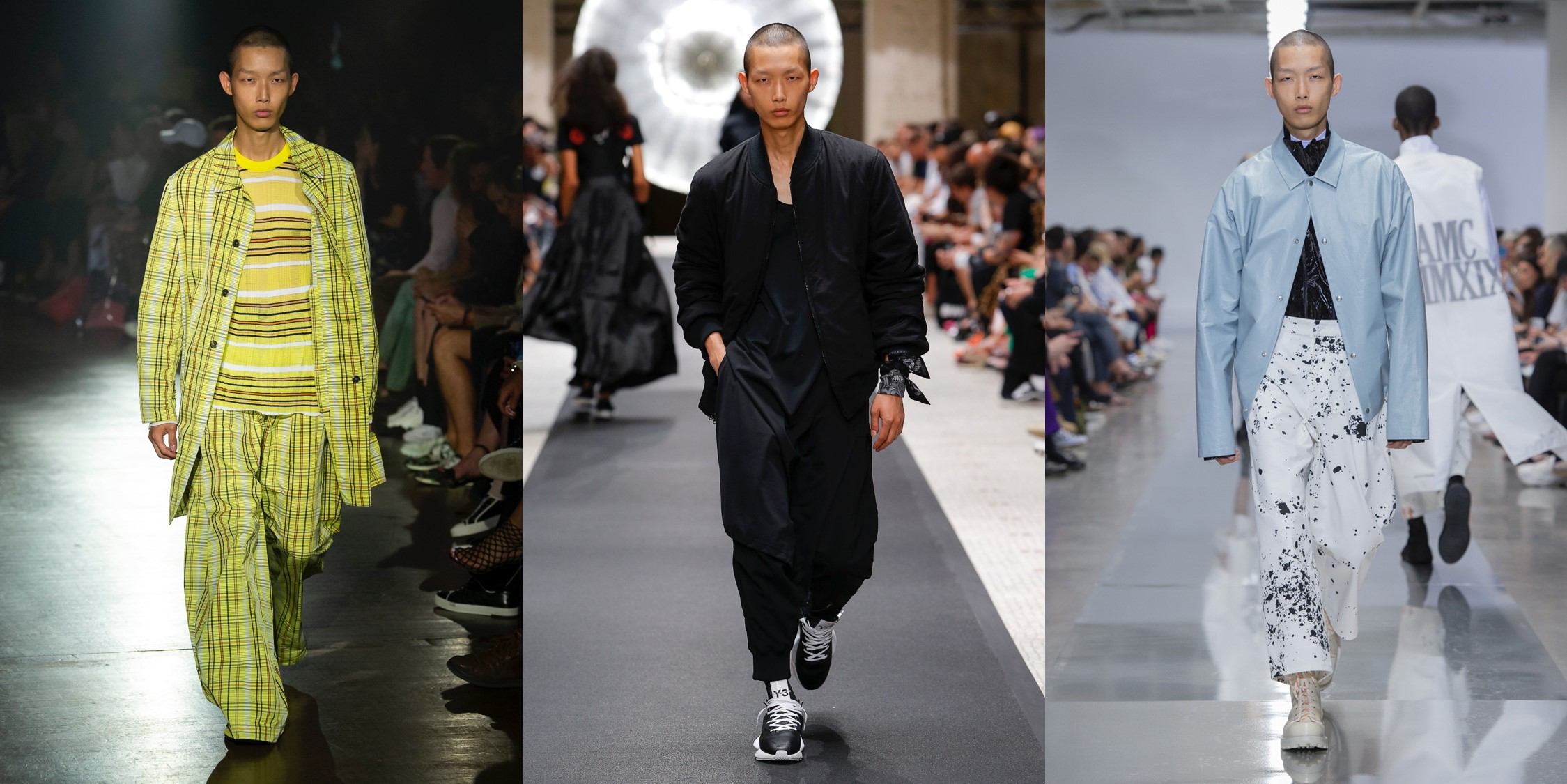 모델 수민, 모델스닷컴 2019 S/S 맨즈 컬렉션 런웨이 랭킹 1위
