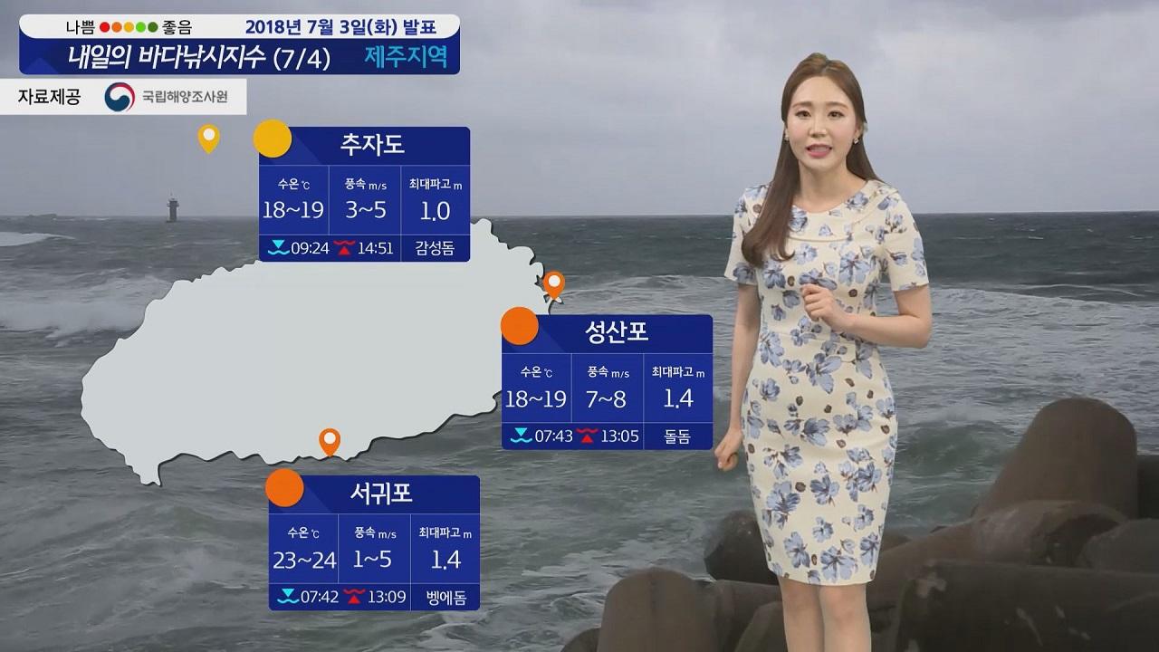 [내일의 바다낚시지수] 7월4일 '쁘라삐룬' 영향 서해 남해도 신지도만 낚시 가능할 듯