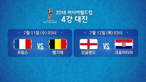 '전통의 강호' vs. '신흥 강자'...월드컵 4강 전망은?