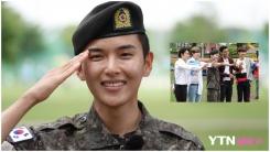 려욱, 전역 신고…'슈주' 이특·시원·동해·은혁 축하