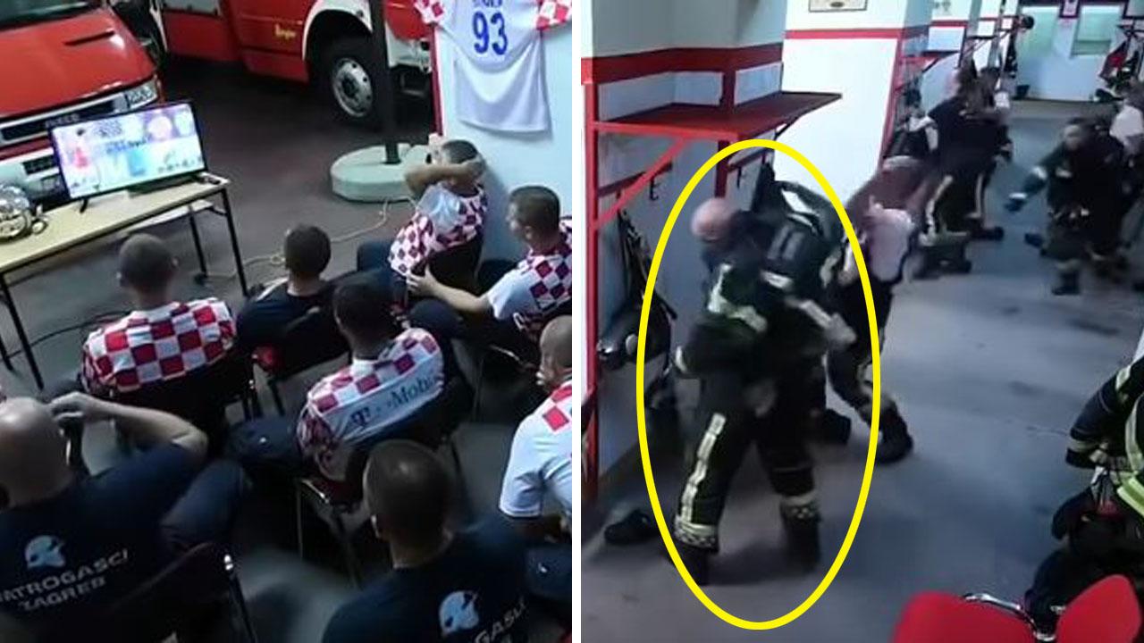 승리 앞두고...'빛의 속도'로 출동하는 크로아티아 소방관 영상