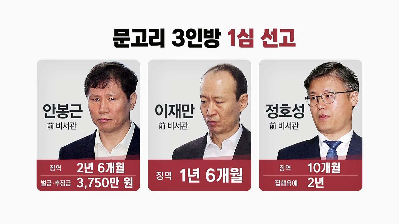 """'국정원 특활비' 문고리 3인방 모두 유죄...""""朴 뇌물은 아니다"""""""