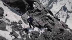 [영상] '세계 최초'...K2 정상에서 스키 타고 하강