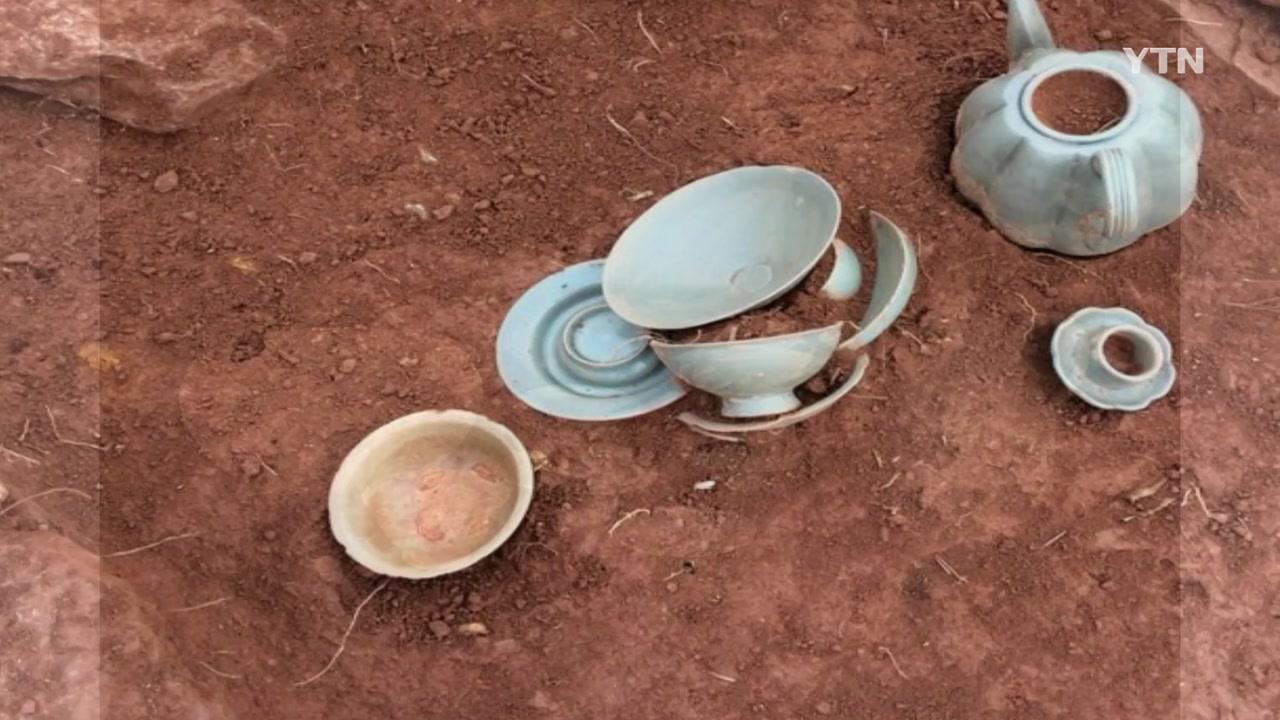 인천 검단신도시서 900년 전 청자다기 등 출토
