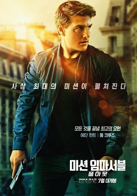 '미션6', 박스오피스 1위 굳히기...'인랑' 3위로 하락