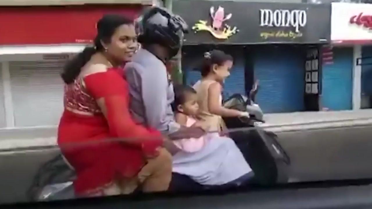 """[영상] 스쿠터 운전자, 5살 아이...""""부모가 시켜"""""""