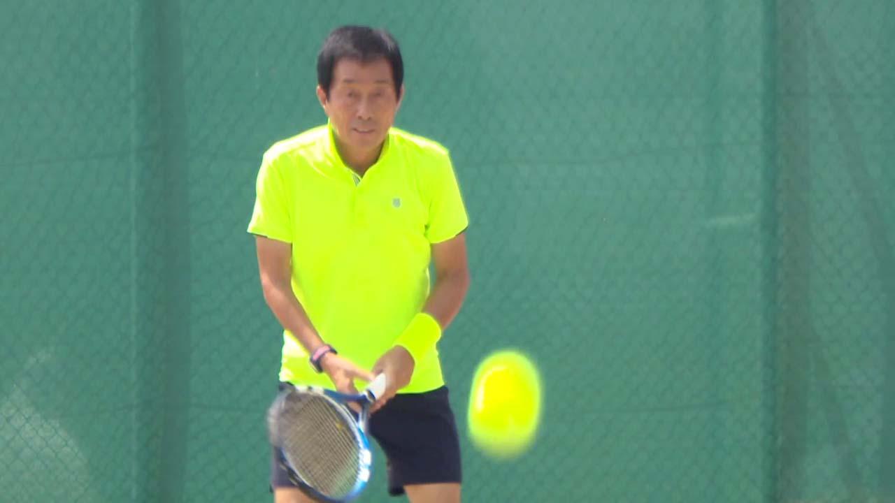 '69세' 나이를 잊은 동호인 테니스 챔피언