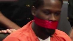 [지구촌생생영상] 피고인 입을 테이프로 막은 판사...이유는?