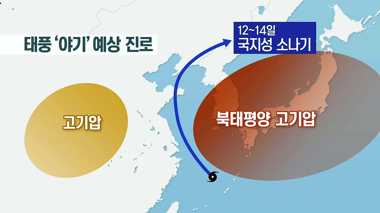 [날씨] 태풍 수증기 유입, 주말 서울 37℃...태풍 '야기' 진로는?