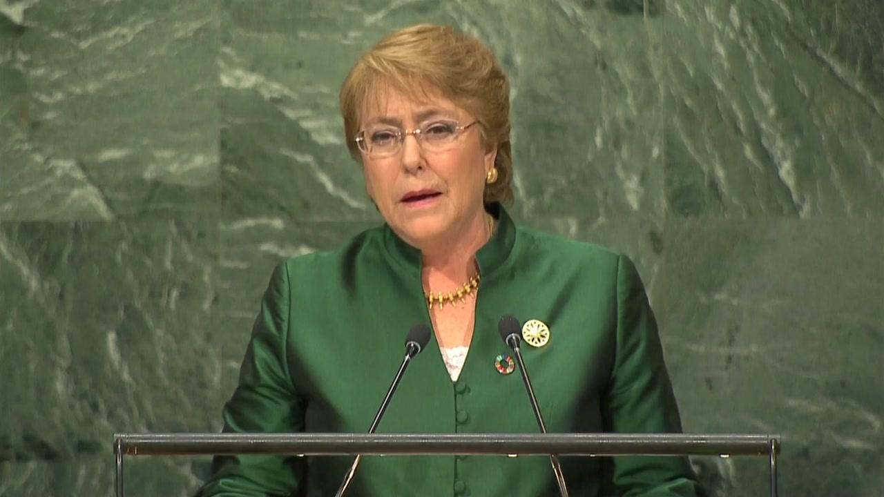유엔, 인권 최고대표에 바첼레트 전 칠레 대통령 승인