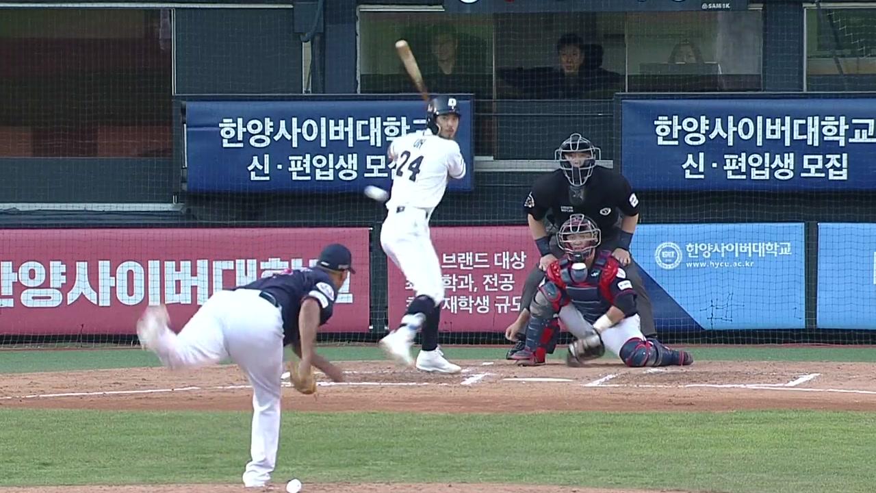 두산, 롯데 4연승 저지...박병호 홈런 2위