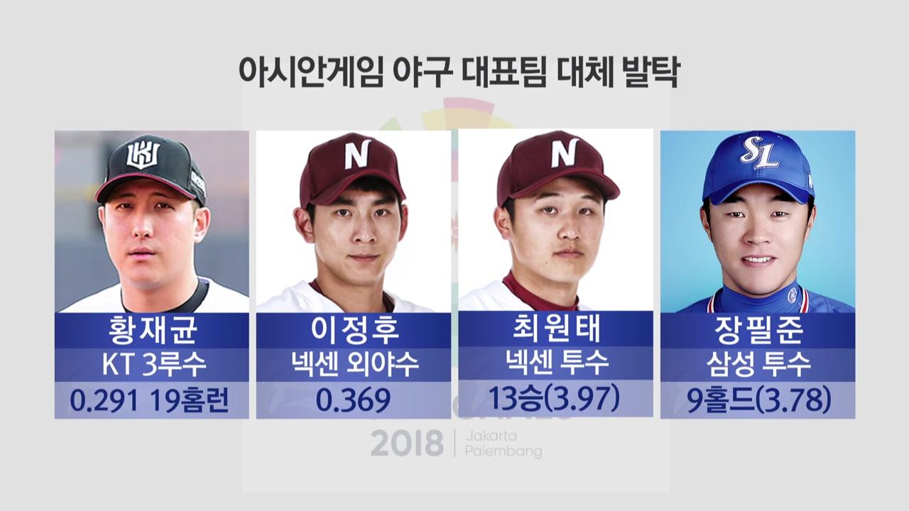 이정후·최원태, 야구 대표팀 발탁