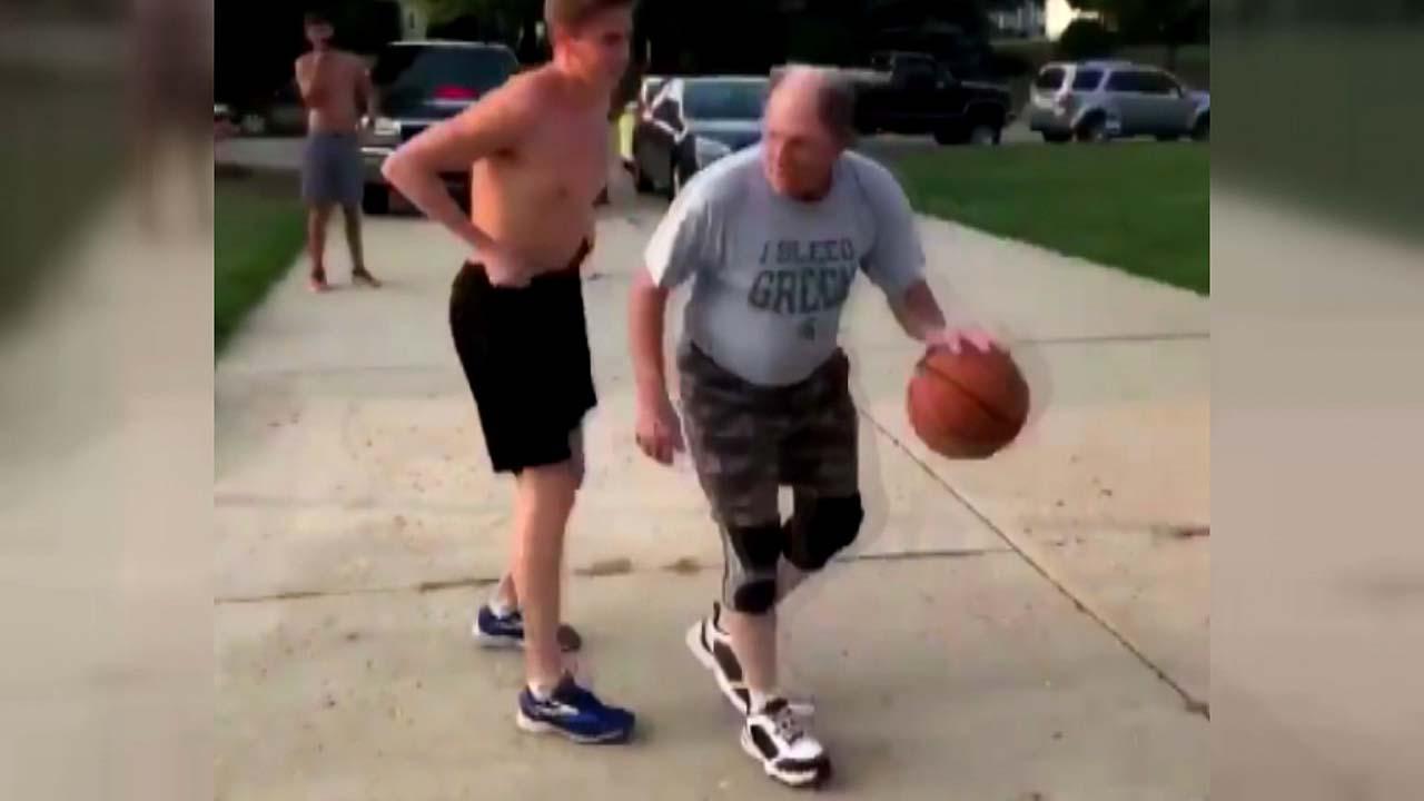 """[지구촌생생영상] """"힘보다는 경험""""...할아버지의 농구 실력"""