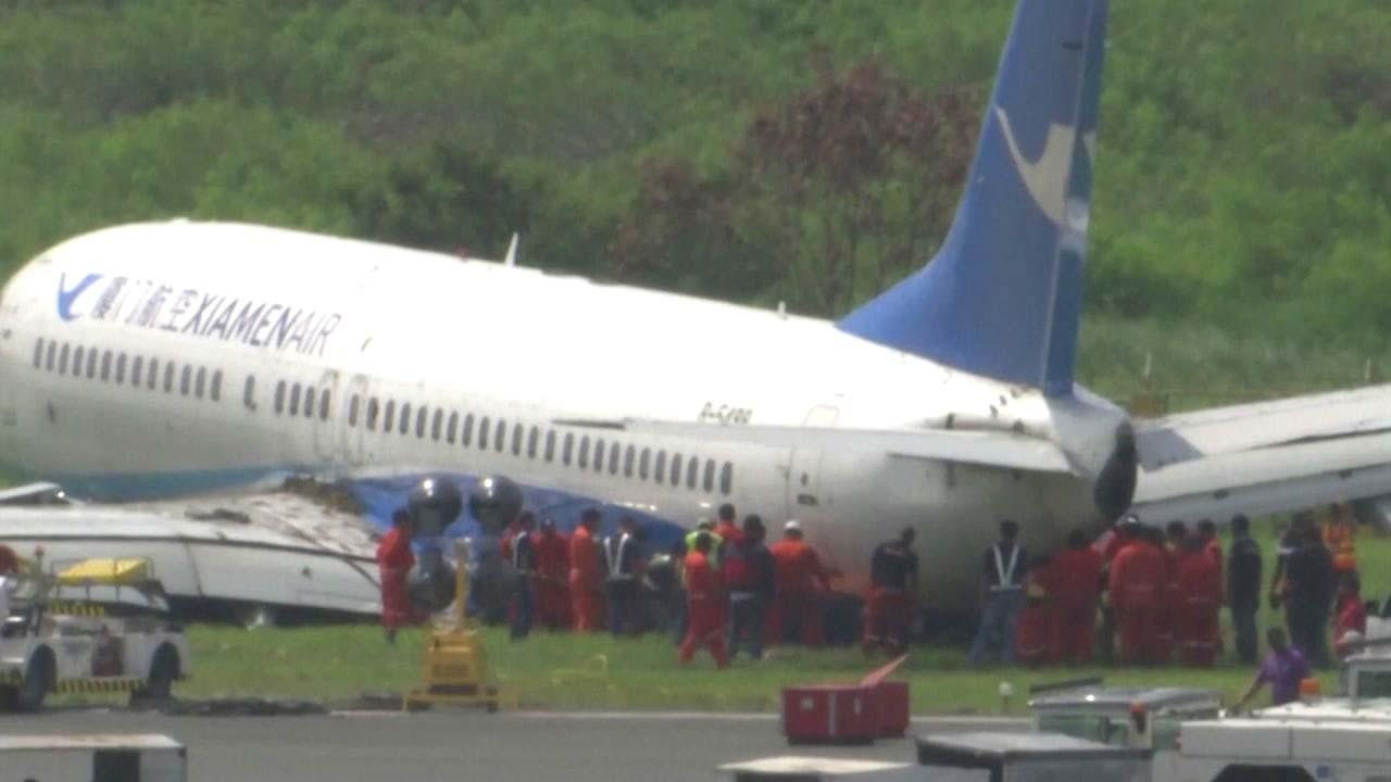 필리핀 공항서 中항공기 활주로 이탈...국제선 운항 중단