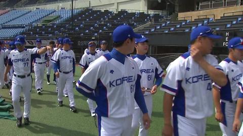 야구 대표팀, 첫 훈련
