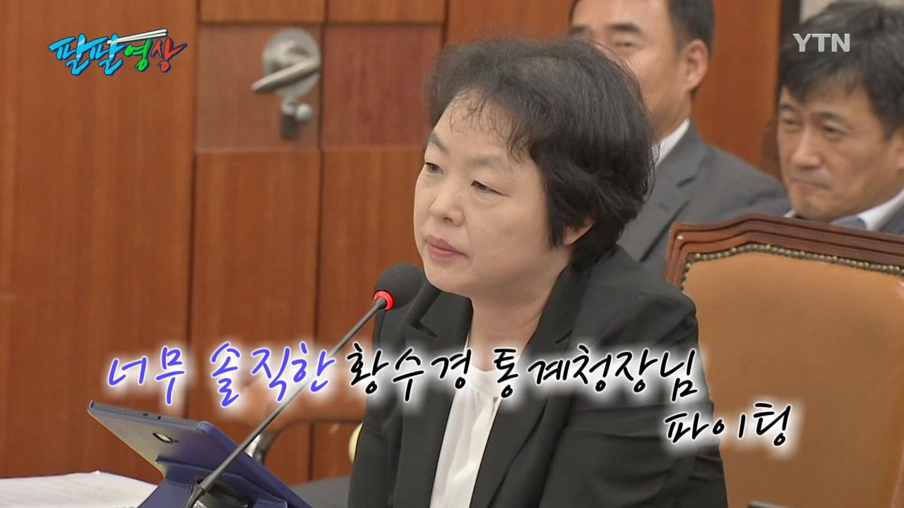"""[팔팔영상] 솔직한 통계청장...""""온라인쇼핑 합니다"""", """"점쟁이 아닙니다"""""""