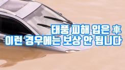 [자막뉴스] 태풍 피해 입은 차, 이런 경우에는 보상 안 됩니다