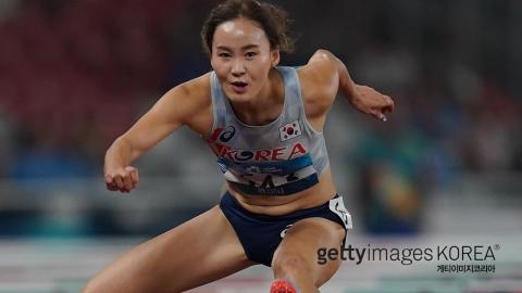 정혜림, 육상 여자 100m 허들 금메달